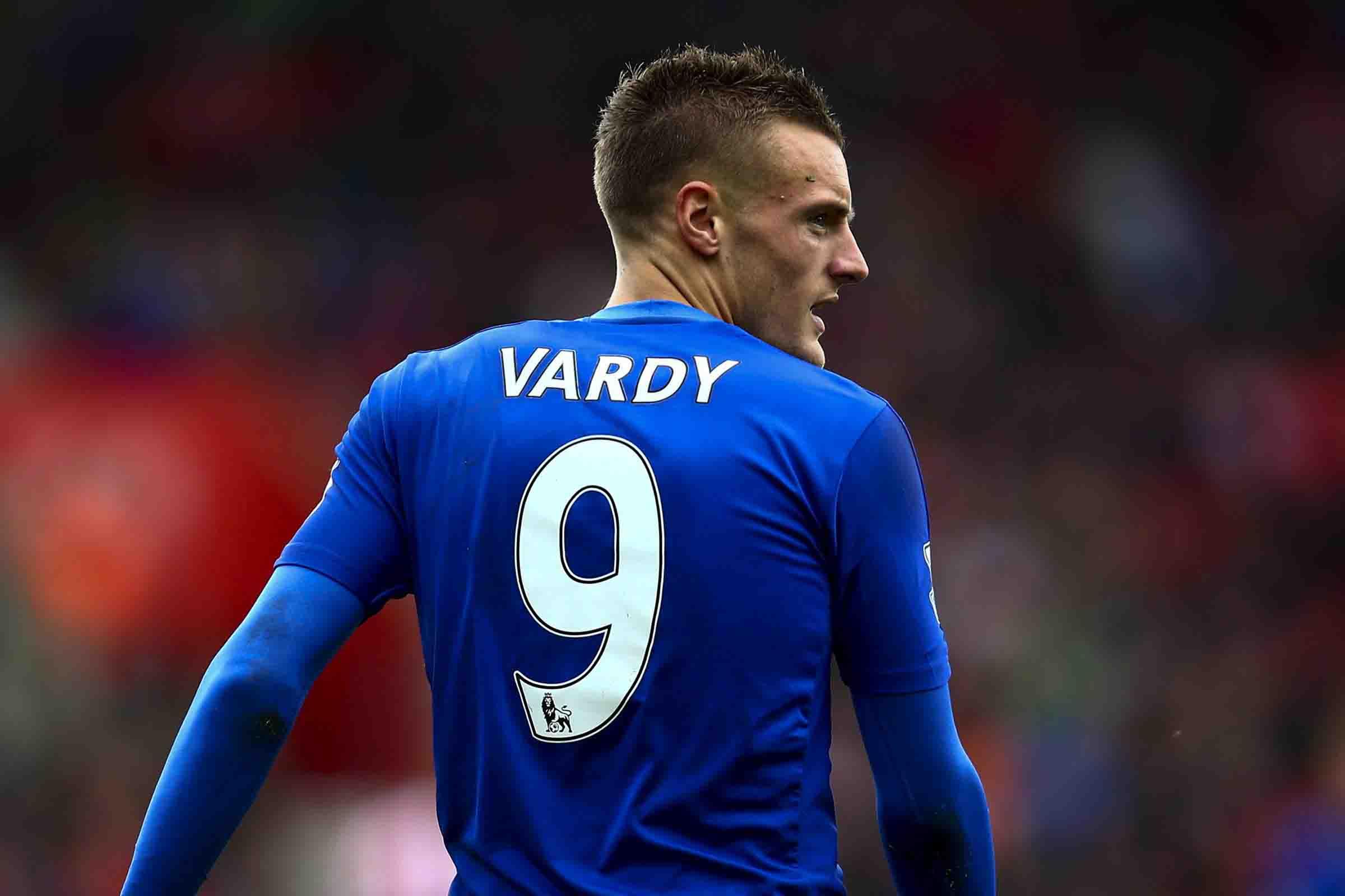 jamie vardy number nine striker in leicester city club